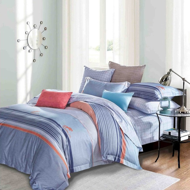 Wholesale Geometrical Printed 3 Pieces Luxury Egyptian Cotton Bed Linen