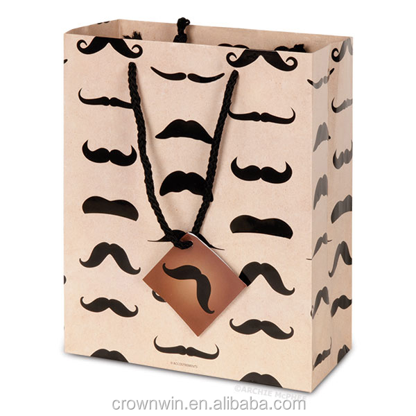 Hot Cheap Recycled Brown Kraft Paper Bag with Handles For Shopping