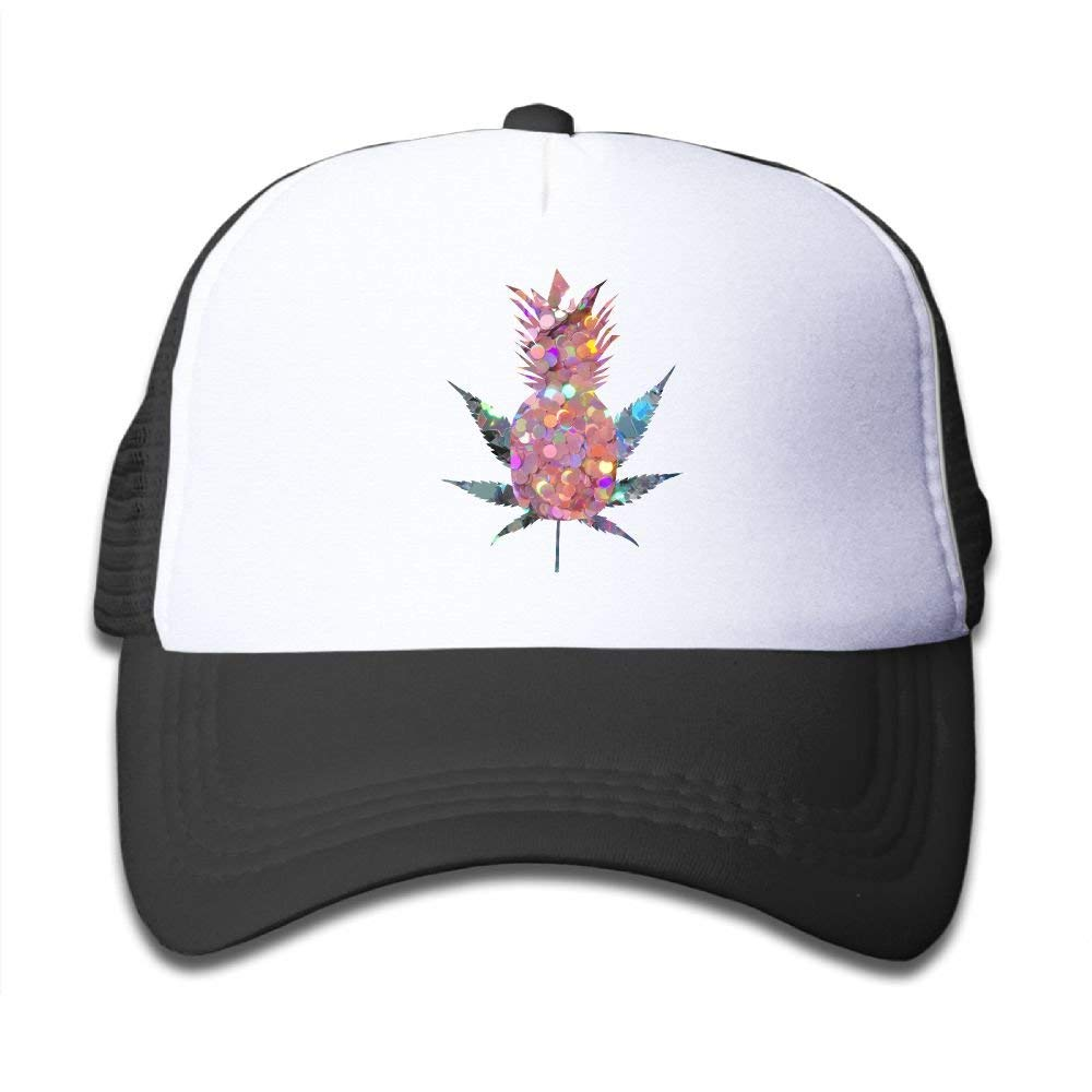 ebd4b0be6df Get Quotations · SDRG5 Pineapple Weed Silver Light Pink Glitter Child Baby  Kid Adjustable Trucker Hat Summer Snapback