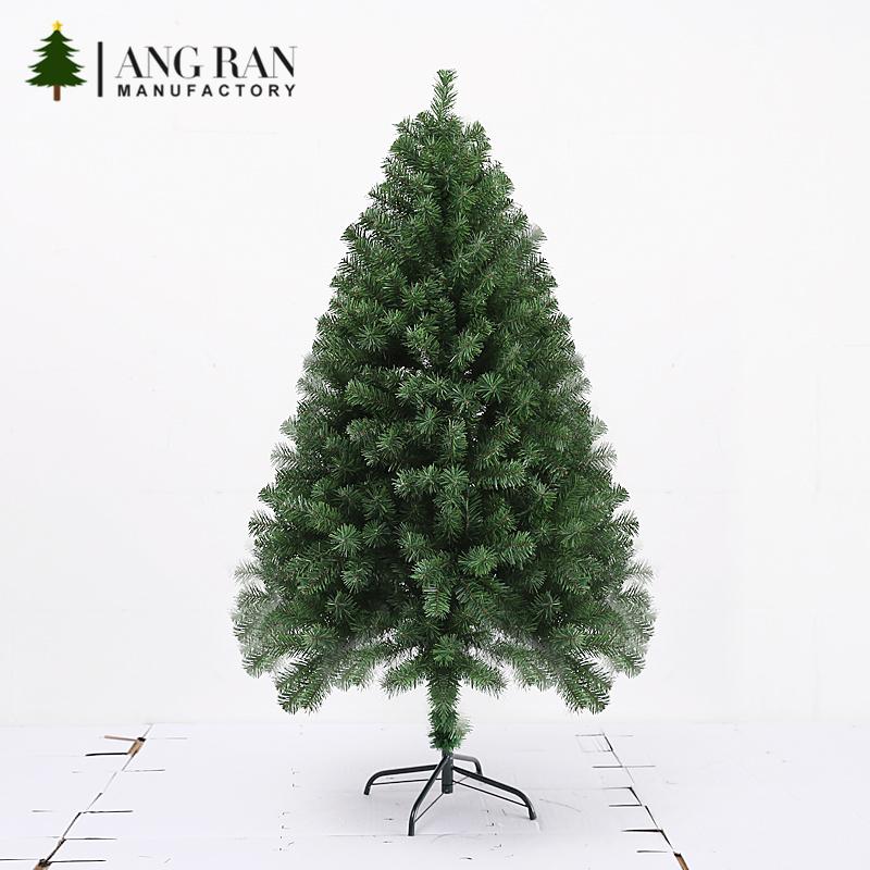 USA Stile di alta qualità IN PVC Verde artificiale coperta piccola decorazione 1.2m albero di natale del commercio all'ingrosso