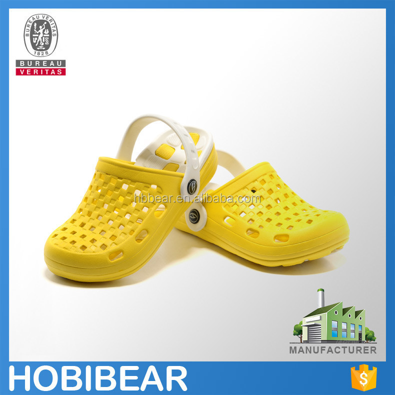 HOBIBEAR 2015 wholesale custom fancy cute kigs plastic garden clogs shoes