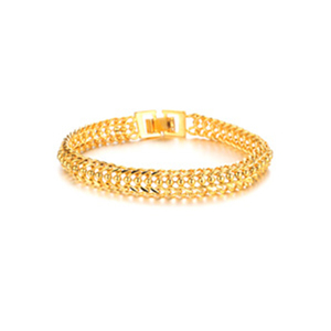Hot Sale Bangles New Jewelry Accessories Women 18K Gold Plated Fancy Classic Chain Bracelet