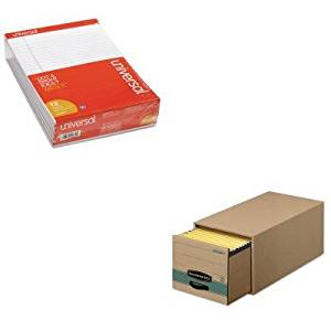 KITFEL1231201UNV20630 - Value Kit - Bankers Box Super Stor/Drawer Steel Plus Storage Box (FEL1231201) and Universal Perforated Edge Writing Pad (UNV20630)
