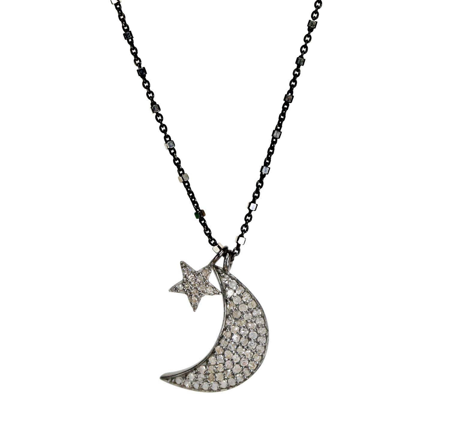 Gemingo New Fashion Design Blue Eye Necklace Hand Made Crescent Moon Jewelry For Women