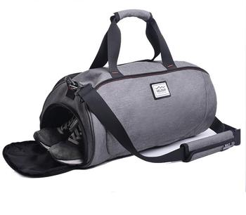Wholesale Custom Mens Shark Duffle Gym Bag With Shoe Compartment