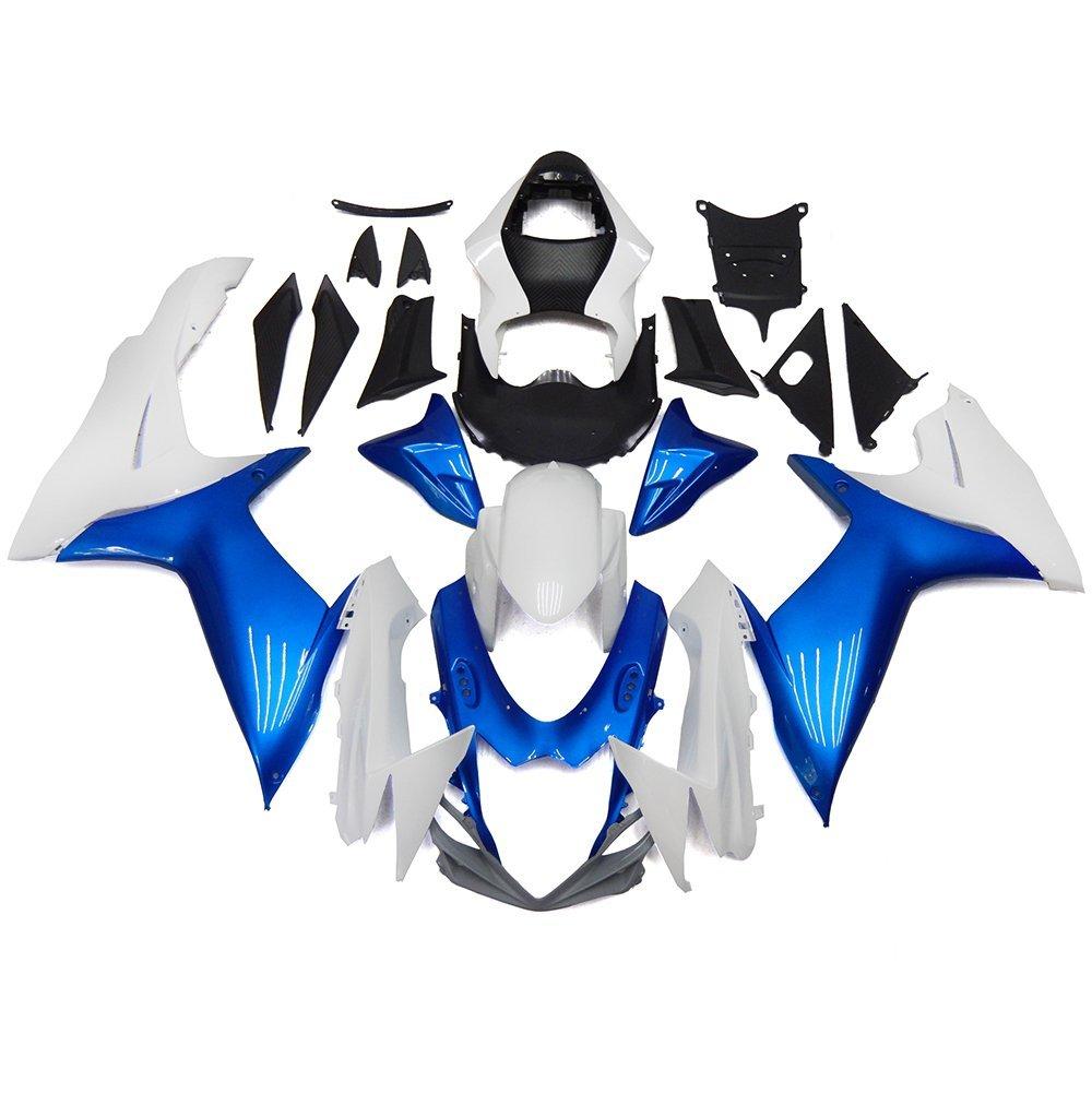 Sportfairings Motorcycle Full Fairing Kits For Suzuki GXSR600 GSXR750 K11 Year 2011 2012 2013 2014 2015 Injection Body Kits ABS Plastics Fairings Pearl White Blue