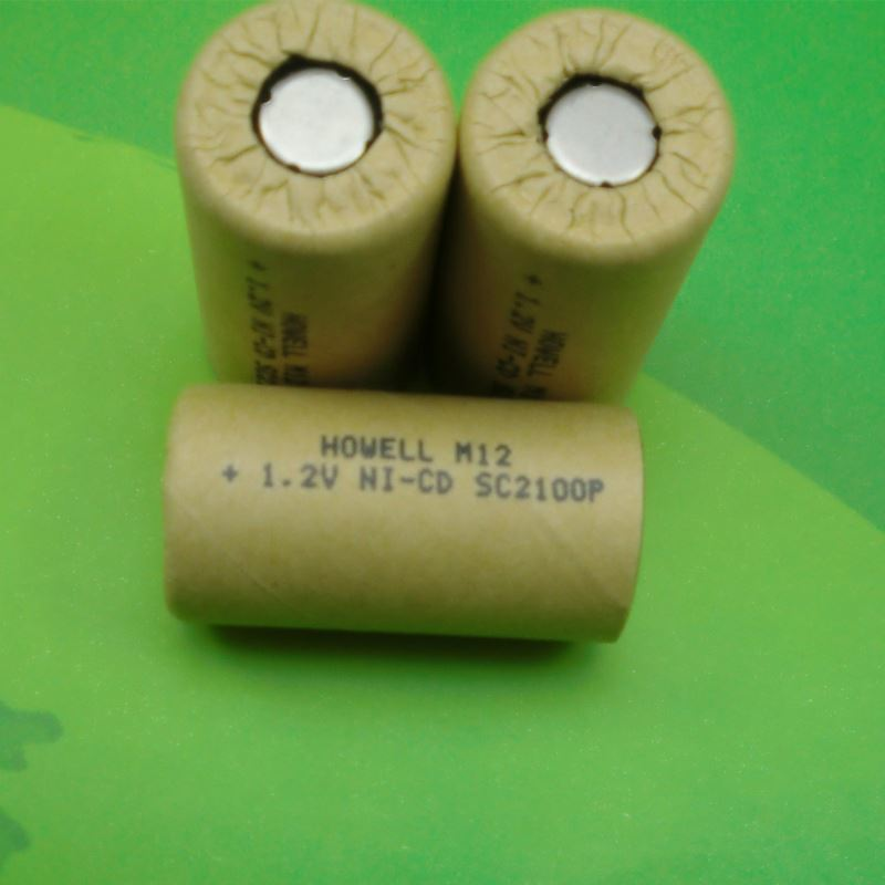 1.2V NiCD SC Rechargeable Battery 2100mAh NiCD Sub C 1.2V Battery with Paper Coat