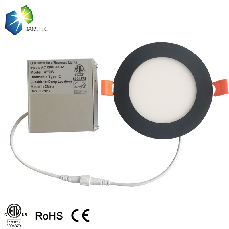 ETL(5004879) Energy star certificates 4 inch 9W ul listed round led panel lights with junction box