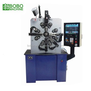 Diamond stainless steel wire thread insert spring coil winding making machine