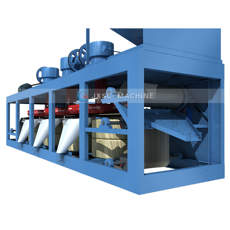 Factory Price Direct Sale 1-2 TPH Tantalite Ores Processing Plant Belt  Magnetic Separator Tantalum Magnetic Separator for Sale