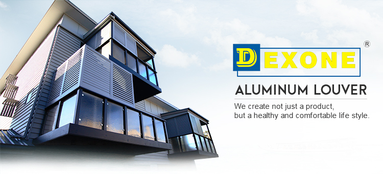 Exterior heat-insulated aluminum sun louver