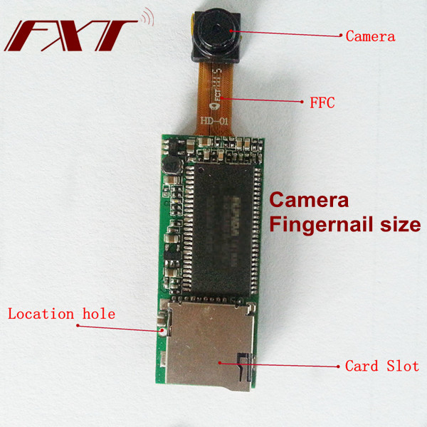 HD 720P Digital Realtime 30fps Recording, AV out, ultra Mini Wireless Camera Module