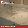 Newstar polished carrara white marble commercial bathroom vanity tops