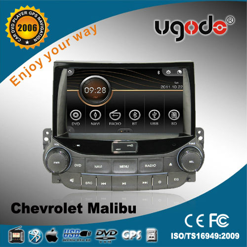 ugode 8inch car dvd built-in gps /bluetooth/ am/fm radio/tv for Chevrolet Malibu