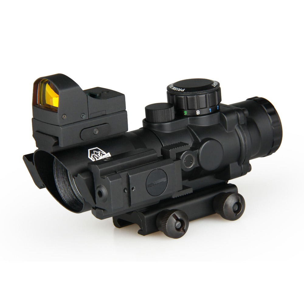GZ1-0290 4x32 wholesale tactical optical airsoft gun red laser sight rifle scope with mini red dot