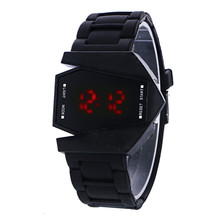 Hot Selling Outdoor Black Silica Gel Wrist Sport Electronic Watch