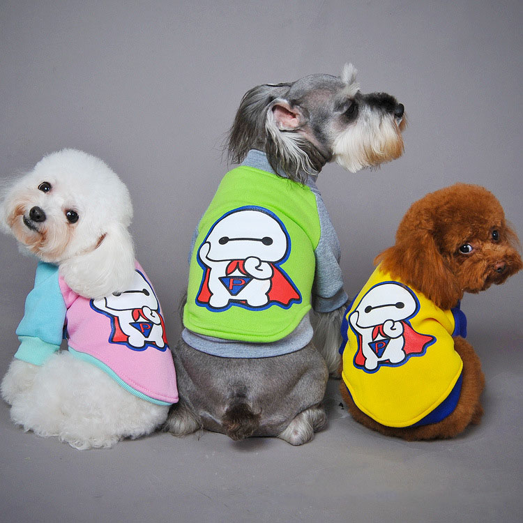 Wholesale chinese printing baymax fleece dog hoodie