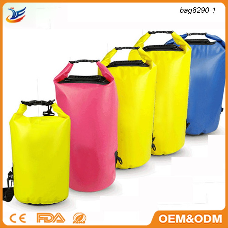 Wholesale 5L 10L 20L PVC waterproof dry bag with your custom logo for swimming drifting
