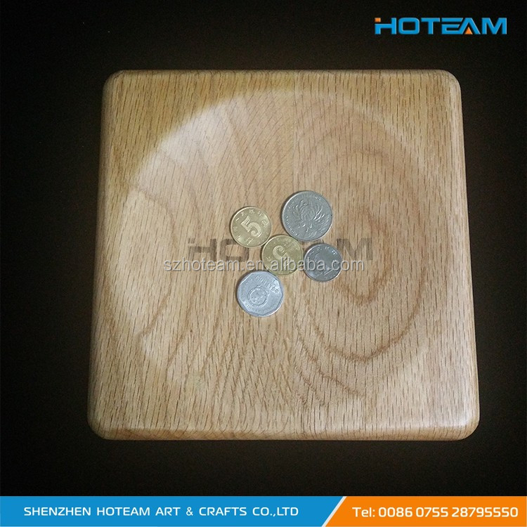 Classic Square Bamboo Wood Coin Tray Manufacturer