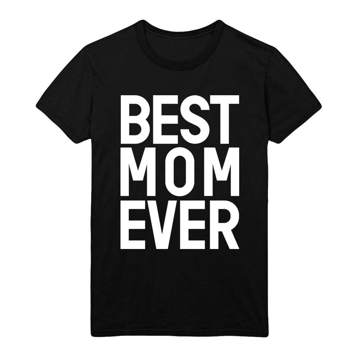 Best Mom Ever Tops Casual Graphic Printed Adult Shirt Crew Neck Tees Cute Short Sleeve Gift Tee Cute Fur Ladies Super Soft Triblend Breathable, Comfortable and Fashionable T-shirt