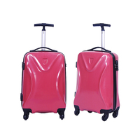 new design customized PET hard plastic spinner travel luggage set