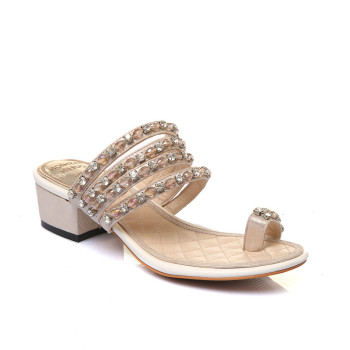 c20daeff0404 low heel sandals shoes ladies fancy summer shoes rhinestone women shoes flip  flop sandal