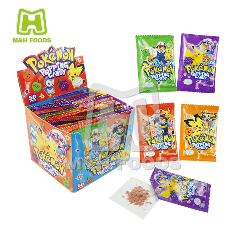 3g Pokemon Al Gusto di Frutta Pop Rocks Caramella