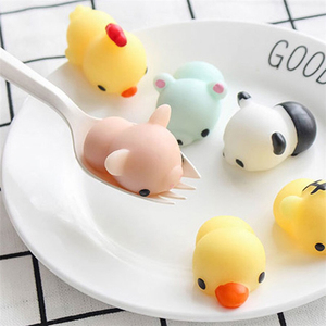 Factory Direct Sale Japan Squishy Animal Toys Slow Rising Rubber Mochi Squishy Silicone Anti Stress Toys