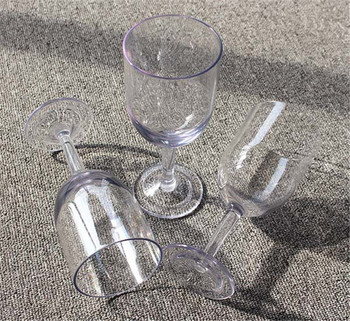 240ml Clear Plastic Toasting Glasses Champagne Flute For Party/Wedding
