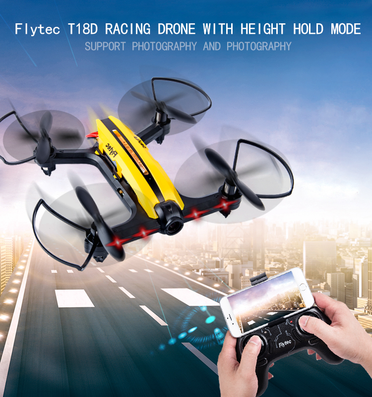 1.  T18D_Yellow_Racing_Drone_with_Altitude_Hold_WIFI_FPV_RC_Drone