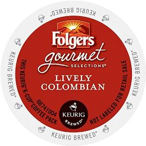 Folgers Gourmet Selections K-Cup Single Cup for Keurig Brewers, Lively Colombian, 24 Count