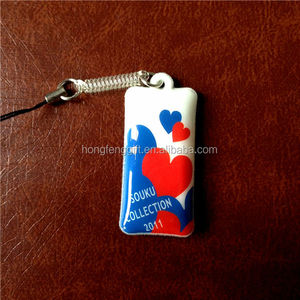 Customized Mobil Phone String ,Cheap Fashion PVC Phone Strap HFC-MC08