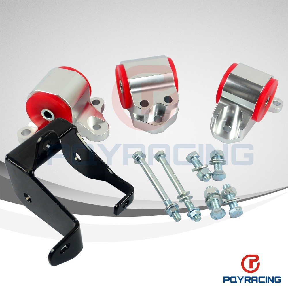 PQY STORE-IN STOCK!!! ENGINE AMOUNT KIT FOR 1996-2000 FOR HONDA CIVIC D16 B16 B18 B20 SWAP MOUNTS EK D-SERIES B-SERIES PQY-EM11