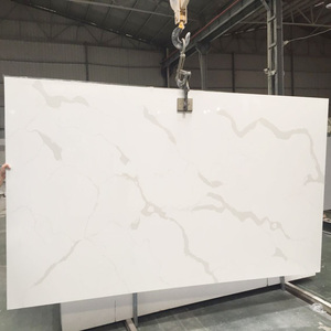 China Factory offered Cheap Calacatta Gold Quartz Stone Slab Price