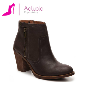 wholesale handmade leather girls ankle booties cheap cowboy boots for women