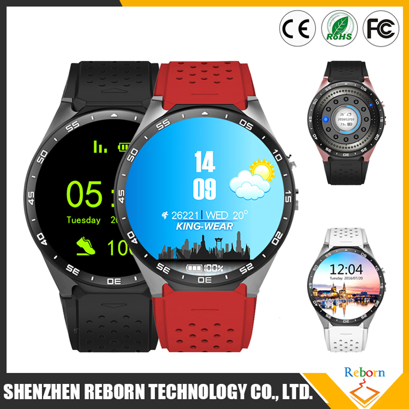 KW88 3G WIFI GPS SIM Smartwatch with google map, camera