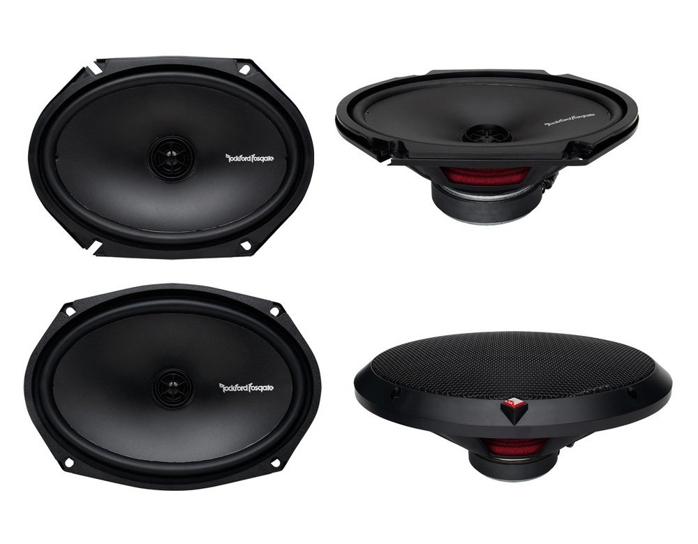 "2) Rockford Fosgate R168X2 6x8"" 110W + 2) R169X2 6x9"" 130W 2Way Coaxial Speakers"