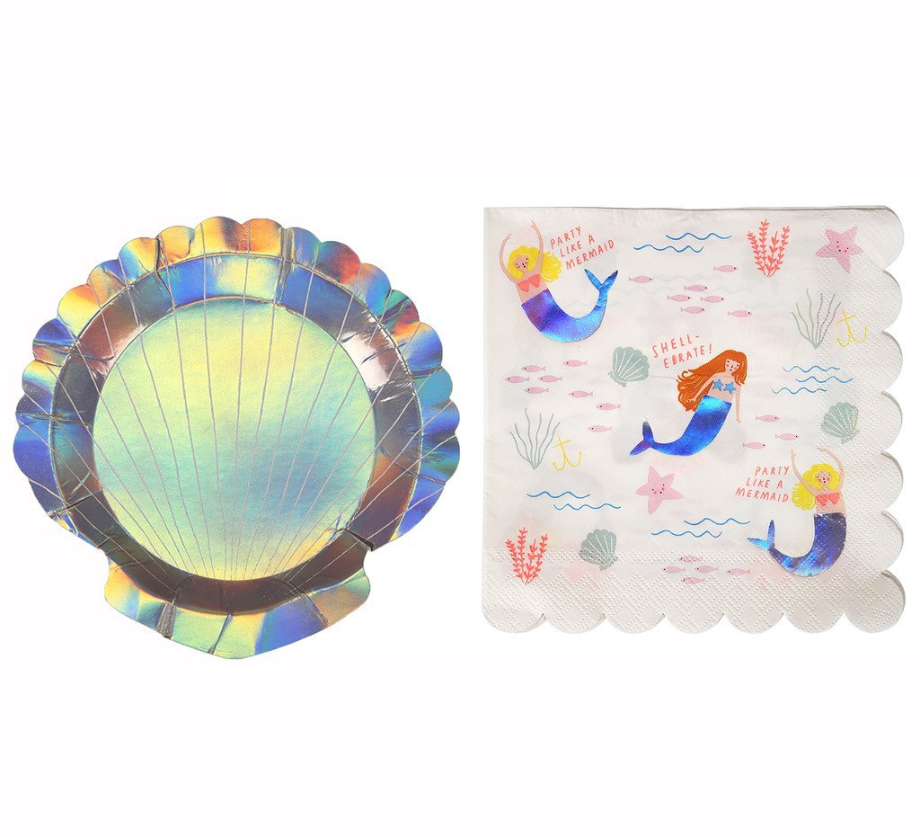 Get Quotations · Mermaid Party Supplies Seashell Birthday Party Theme 8 Paper Plates and 16 Napkins  sc 1 st  Alibaba & Cheap Plastic Seashell Plates find Plastic Seashell Plates deals on ...