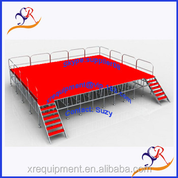 Outdoor Concert Stage Sale With Handrail Guardrail And