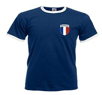 Sports Crazy unisex France French Francais Rugby Soccer Football T Shirt