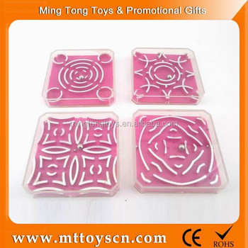 Plastic cheap small toy labyrinth bead maze