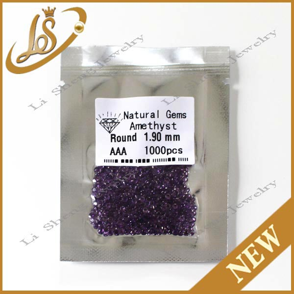 Wholesale jewelry gemstone round natural gems semi precious cz stone