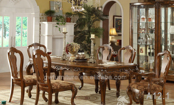 Mesa de comedor de madera maciza cl sico y silla sets para for Comedor waterdog royal house