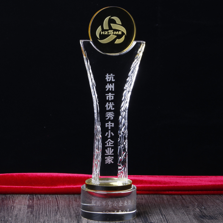 Pujiang Jinghua Wholesale Cheap Crystal Trophies And Awards with Laser logo