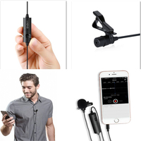 Clip on Hand free live broadcasting on Podcast Microphone with Windscreen for loud and Crisp sound better than Boya BY-M1