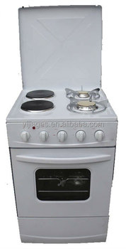 4 burner Gas stove + electric stove free standing oven with cover