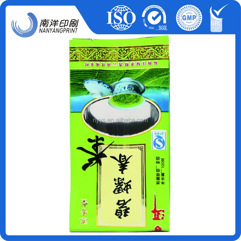 Chinese Factory Price /Vacuum Tea Packaging Bag /Stand Up Pouch Customized Gravure Printing