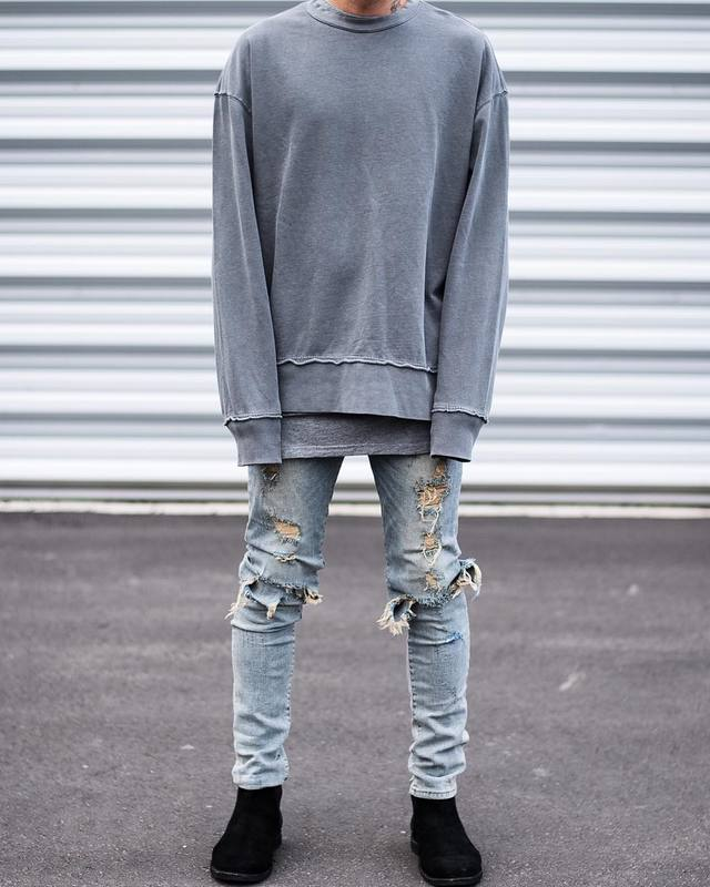 06a4ea6ad82 Detail Feedback Questions about S 2XL hip hop represent clothing slp  designer brand rock blue black destroyed distressed ripped skinny casual mens  jeans ...