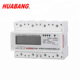 Multifunction with harmonic three phase four wire digital din rail smart meter