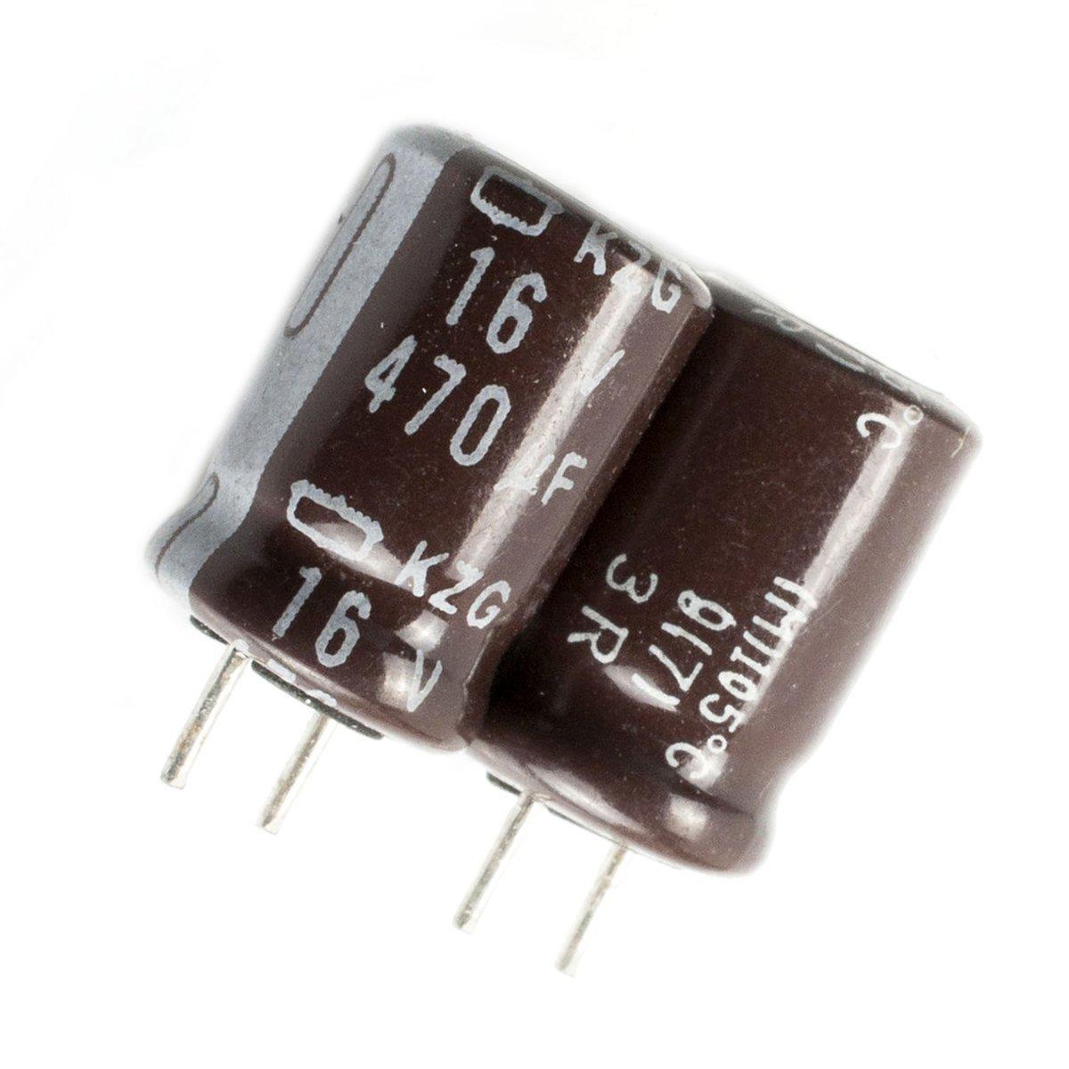 condensatore elettrolitico 2x Nichicon KT /'/'Audio/'/' 470uF 16V UKT1C471MPD